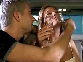 Charming blond milf fucks brains out in limousine