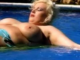 Hungry busty mature fucks and gets cum on big tits