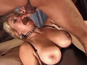 Aged mature getting facial after fuck in all holes