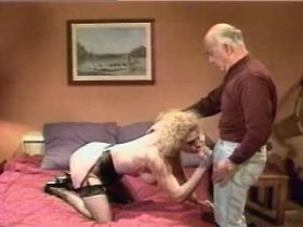 Blonde mature sucks old dick and gets licking cunt