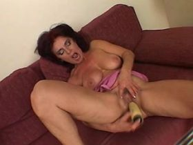 Brunette mature does blowjob in different poses
