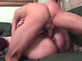 Aged chubby mature sucks and gets hard fuck on sofa